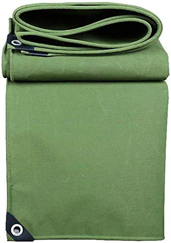 ZTMN Tarpaulin Green Canvas Wasserdicht mit Ösen, Mehrzweck-Bodenplane für schwere Beanspruchung für LKWs/Boote, 560 g / msup2; (Größe: 5x7m) -