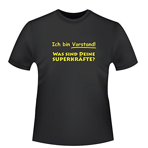 Ich Bin Vorstand - was sind Deine Superkräfte?, Herren T-Shirt - Fairtrade, Größe 3XL, schwarz (Ich Bin Vorstand)