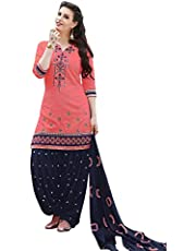 Nivah Fashion Women's Cotton Patiala Salwar Suit Dress Material(G16)