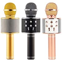 KWT Advance Handheld Wireless Singing Mike Multi-function Bluetooth Karaoke Mic With Microphone Speaker For All Smart…