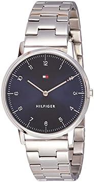 ساعة يد بمينا كحلي وسوار من الستانلس ستيل للرجال من تومي هيلفجر - 1791581