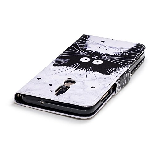 Mate 10 Lite Hülle, Huawei Mate 10 Lite Hülle, Klassikaline® Huawei Mate 10 Lite (5.9 Zoll) Schutzhülle Tasche Handyhülle {Bunte Retro Muster Serie} - Paar Katzen