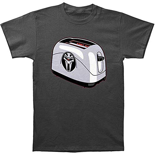 Tapas Worldwide Frakkin Toaster Cylon Charcoal Adult T-Shirt