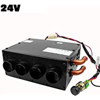 Dispositivo de descongelación del calentador de automóvil de invierno de 4 orificios portátil , desempañador de descongelación de calentador de caldeo de 80 vatios silencioso, 2 opciones 12V / 24V