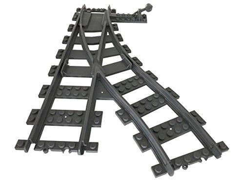 Lego City kompatibel Eisenbahn Schienen Weiche links Neu