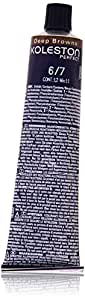 Wella Professionals Koleston Perfekt Permanente Cremehaarfarbe, 6/7 dunkel Blond braun, 1er Pack (1 x 60 ml)