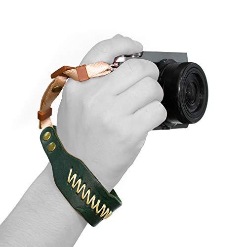MegaGear Ultraleichte Schultergurt Leder für alle Kamera - Grün