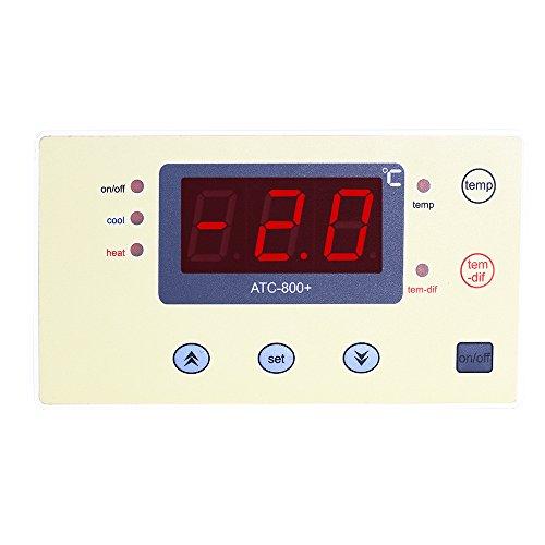 Elitech 220V Digitaler Temperaturregler Thermoelement für Aquarium Heizmatten, Terrarium, Vivarium, Huhn Brutkasten, Gewächshaus Fans, Elektrische Schalter usw. -