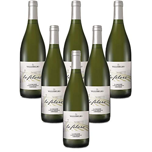 Langhe DOC Arneis Le Filere vino bianco Vino Bianco italiano (6 bottiglie 75 cl.)