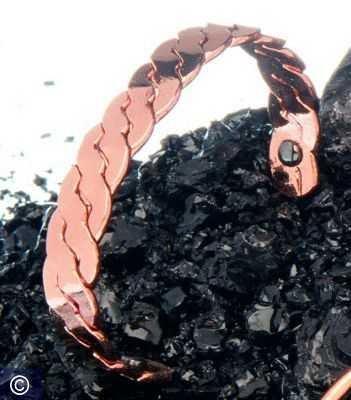 Magnet-Armreif Kupfer, geknotet