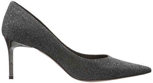 Oxitaly - Rubina 100, Scarpe col tacco Donna Argento (Silber (Blk/Arg))