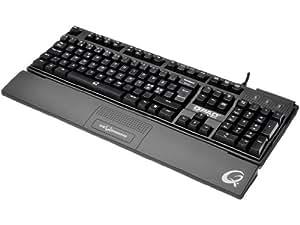 Qpad MK50 Pro Gaming Mechanical Tastatur (Deutsch, 1,8m, PS/2, USB)