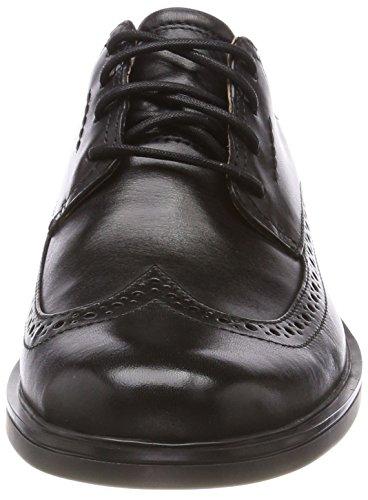 Clarks Un aldric Wing, Derbys Homme Noir (Black Leather)