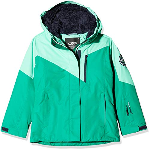 CMP Mädchen Wattierte 3000 Ripstop Skijacke Jacke, Emerald, 128
