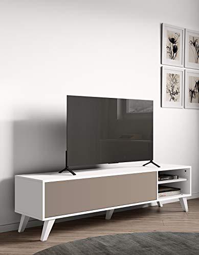L x P x A Marchio  -/Movian Enol 165 x 40 x 43.2 cm Mobile TV colore bianco // gambe in faggio