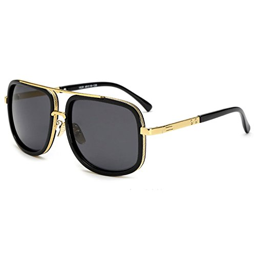 f51d32e4bdca Retro OverSized Sunglasses Men Women Square Metal Frame for sale Delivered  anywhere in UK