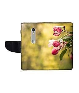 KolorEdge Printed Flip Cover For Motorola Moto X Play Multicolor - (1479-55KeMLogo09405MotoXPlay)