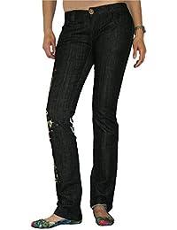 PHILIPP PLEIN Damen Designer Jeans Hose - LOVELY BIRDS -