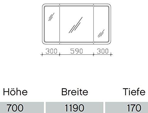 Spiegelschrank Contea von Pelipal – 119 cm - 2