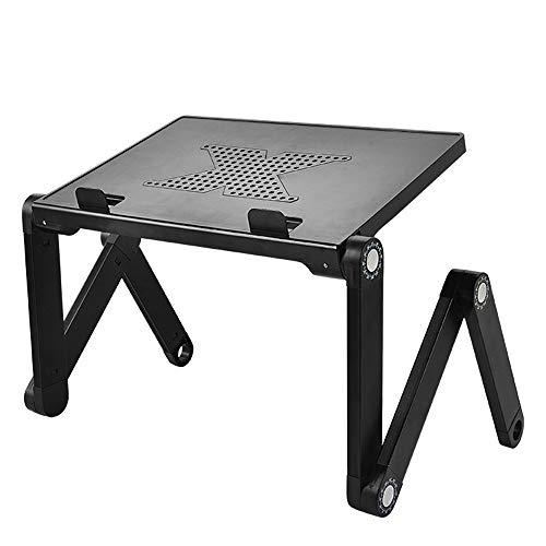 WFFH Verstellbarer Laptop-Ständer, tragbarer, Leichter Laptop-Tisch, ABS-Schreibtisch aus Aluminiumlegierung, Laptop-Board mit abnehmbarem ABS-Maus-Board für Bett/Sofa/Boden/Teppich/Rasen -