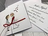 Set partecipazioni Nozze Personalizzate inviti Matrimonio BUONANNO cod. E004 (1)