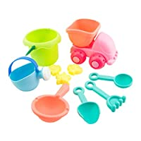 TOYMYTOY 10PCS Kids Beach Toys Plastic Bath Playing Sand Toy Set for Children Toddlers