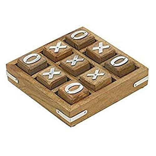 Royal Handicrafts Wooden Tic Tac Toe/ Noughts and Crosses Game Unique Handmade Quality Wood Family Board Games