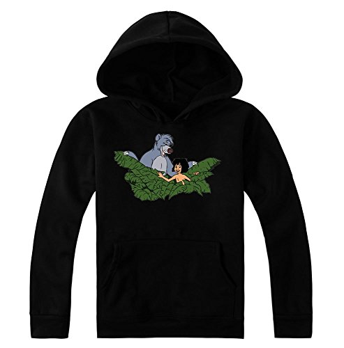 Mowgli And Baloo In The Jungle Women's Hoodie Pullover Large