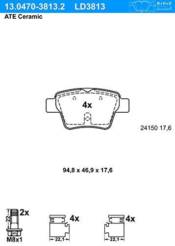 Metzger/ /Kit Accessoires pour Les Plaquettes de Frein de stationnement CR 896