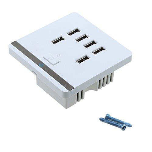 Gazechimp 6 Ports USB 3.4A Wandsteckdose Steckdose Wand Ladegerät Charger für Handy