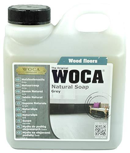 Woca Holzbodenseife Grau 1 Liter für grau geölte Parkett- und Holzböden