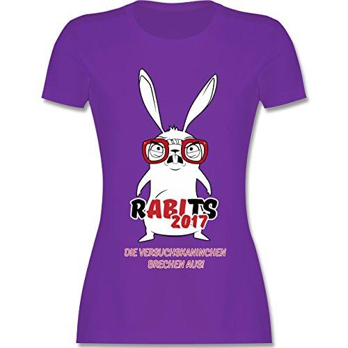 Abi & Abschluss - Rabits 2017 - die Versuchskaninchen brechen aus! - tailliertes Premium T-Shirt mit Rundhalsausschnitt für Damen Lila