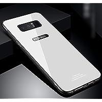Galaxy Note 4Case, Galaxy Note 8Caso Claro, ikasus Ultra Thin Slim Fit suave TPU Bumper Caso con cubierta trasera de cristal templado [apoyo carga inalámbrica] templado cristal funda para Galaxy Note 8,