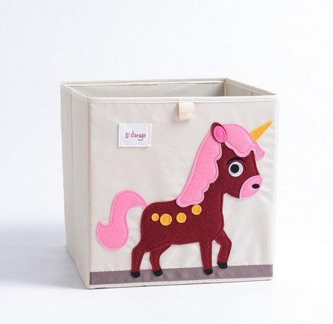 (Homgomco Faltbare Aufbewahrungsbox für Spielzeug Faltbare Aufbewahrungsbox für Kleidung Oxford Cloth Size 33 * 33 * 33cm (Pegasus))