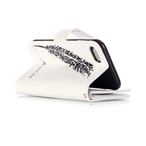 OuDu Housse iPhone 7 PLUS Etui de Portefeuille avec Fente pour Carte pour iPhone 7 PLUS Coque Flexible Doux Flip Leather Wallet Case Cover Bumper Etui Pochette en PU Cuir Coquille Mince Léger Couvertu Nous Volerons