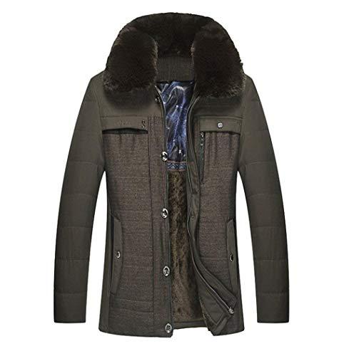 Betrothales Hochwertiger Herren Wintermantel Winterparka Bomberjacke Jacken Kragen Kunstpelz Verdickte Winterjacke Warme Outwear (Color :...