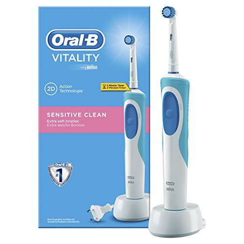 Oral-B - Cepillo de dientes recargable Vitality Sensitive Clean - con...
