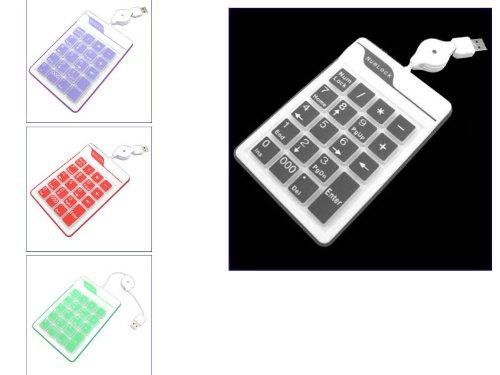 Kalea Informatique wasserabweisend Silikon USB numerische Tastatur 19Tasten mit einziehbarem Kabel schwarz -