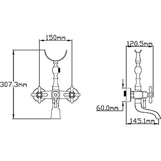 41fD7 XIOVL. SS324  - DP Grifería GCB004 Grifo de baño serie Almendro en bronce,