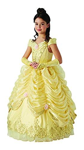 La Bella y la Bestia - Disfraz de Bella para niña, Edición Deluxe Limitada, 5-6 años (Rubie's 630613-M)