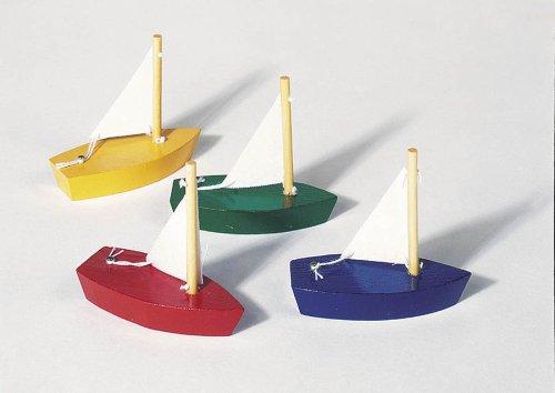 Mini-Segelboote 4er Set