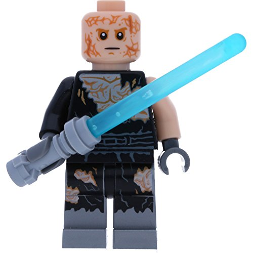 Star Wars Lego Figurenauswahl Darth Vader Yoda Ewok C-3PO und viele mehr mit GALAXYARMS Waffen (Anakin Skywalker)