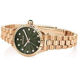 Uhr Damen Luxury Diamonds Rose Gold Grün 2569ld-rg04-Hoops