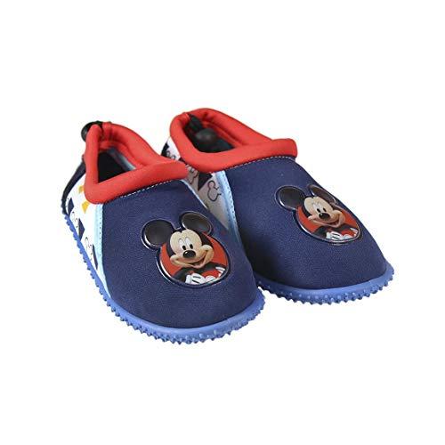 Takestop scarpe scarpette da mare acqua topolino micky mouse disney bambino bimbo chiusura laccio ciabattine sassolini sassi sandali antiscivolo sport acquatico (25 eu)