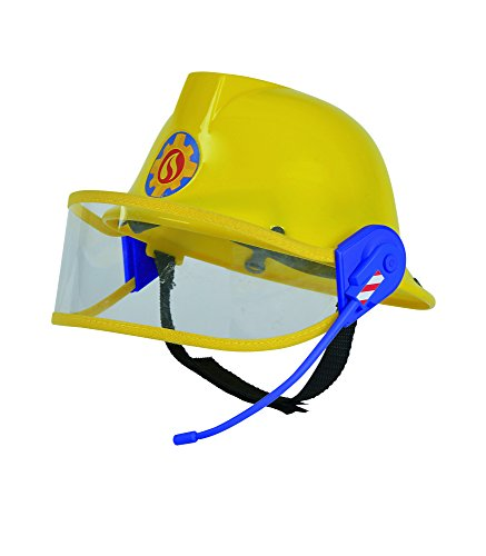 feuerwehrmann kostuem 116 Simba 109258698 - Feuerwehrmann Sam Helm in gelb 23 cm