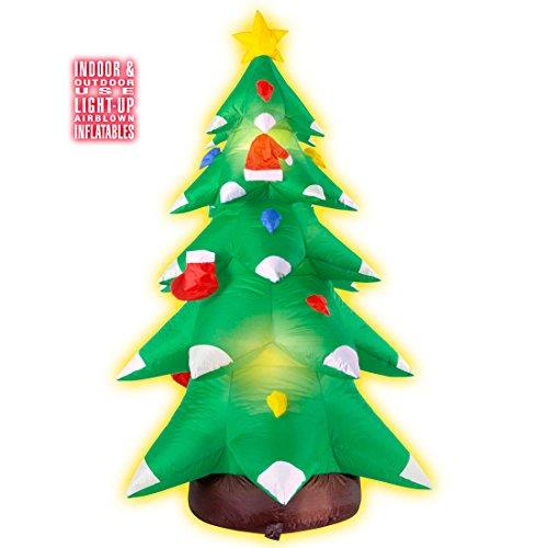aum aufblasbar Christbaum Leuchtend 0 Tannenbaum mit Licht Deko Baum Weihnachtsdekoration Heilig Abend Raumdekoration ()
