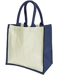 Westford Mill Midi Jute-Tasche / Shopper / Einkaufstasche, 14 Liter