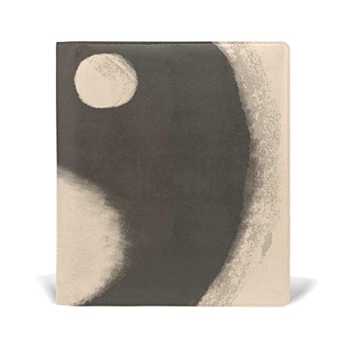 coosun Watercolor Ying Yang Buch-Sox dehnbar, passend für die meisten Hardcover lehrbüchern. bis zu 9X 11. Klebstofffreie, PU-Leder Schule Buch Displayschutzfolie (Ying Yang Notebook)