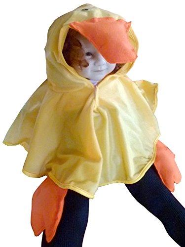 Enten-Kostüm als Umhang, An68/00 Gr. 74-98, Ente Faschingskostüm für Klein Kinder Enten-Kostüme Enten-Kinderkostüm für Fasching Karneval, Klein-Kinder Karnevalskostüme, - Ente Kleinkind Kostüm