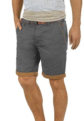 Blend Neji Herren Chino Shorts Bermuda Kurze Hose Mit Gürtel Aus 100% Baumwolle Regular Fit, Größe:XXL, Farbe:Granite (70147) China Top